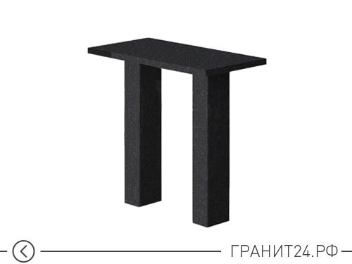 Стол прямоугольный из черного гранита