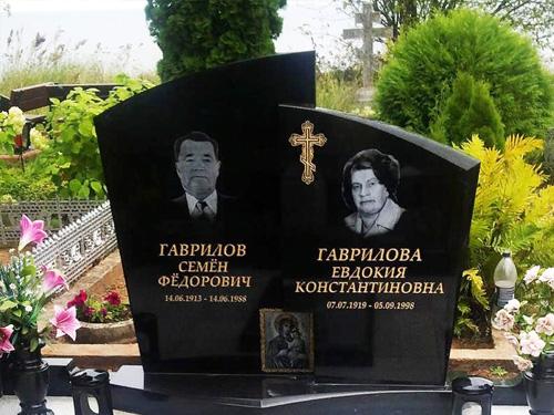 Двойная гравировка на памятник мужчине и женщине