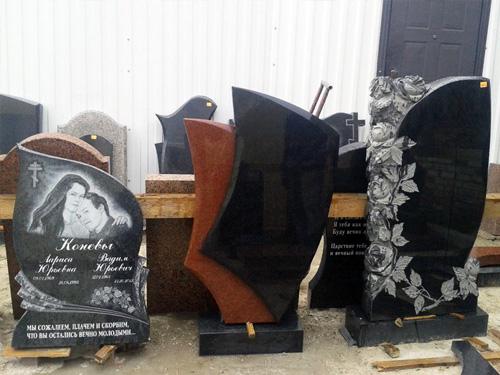 Каталог памятников из гранита в мастерской