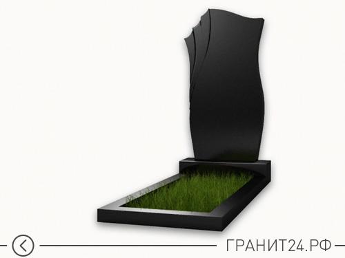 Памятник резной из черного гранита