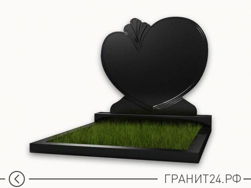 Памятник из гранита форма сердце