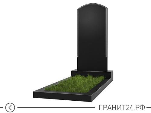Памятник примой овальный с выемкой