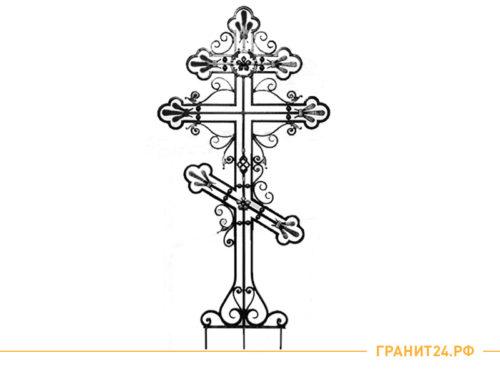 Крест кованый 180x95 на кладбище из металла
