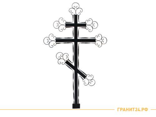 Крест кованый узорный для могилы высота 2 метра