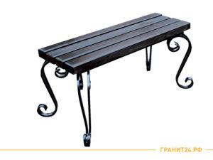 Лавка №2 металлическая с деревянным сиденьем
