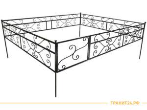 Оградка сварная №8 с калиткой, столб 20х20