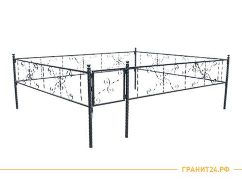 Ограда сварная №13 с калиткой 2 на 3 метра