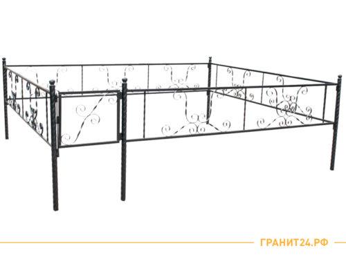 Оградка сварная №14 с калиткой 3 метра