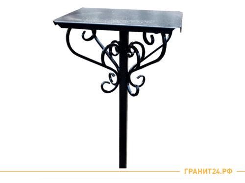 Стол на кладбище кованый 50x60 черного цвета