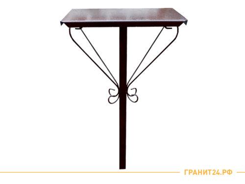 Стол кованый квадратный медного цвета