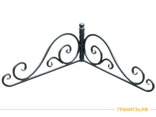 Угол №3 круглый кованый на оградку медного цвета