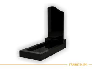Памятник №6 из черного гранита симметричный