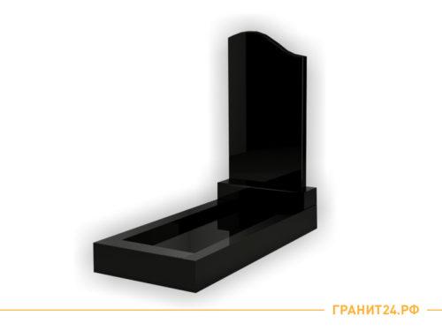 Памятник №6 из черного гранита симетричный