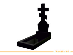 Памятник из гранита с большим крестом №22