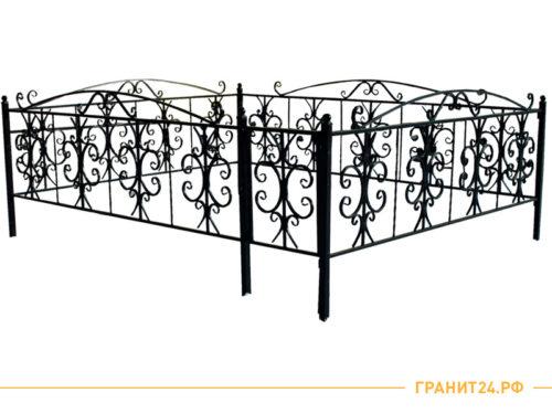 Ограда № 23 с элементами ковки