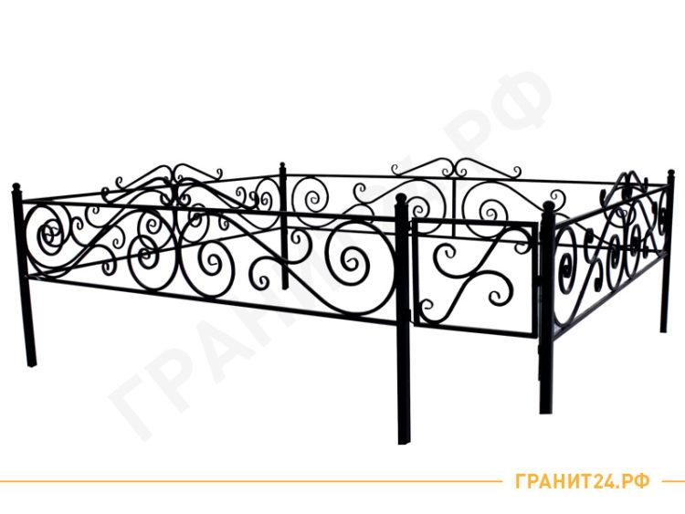 Оградка сварная №26 на кладбище, столб 40х40